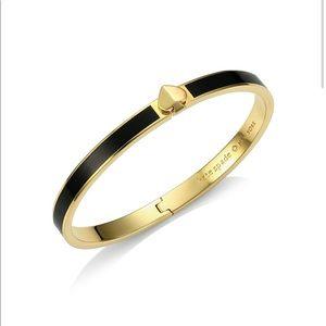 Kate Spade Thin Enamel and Goldtone Spade Bracelet